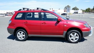 2007 Mitsubishi Outlander ZG MY07 XLS Red 6 Speed Constant Variable Wagon.