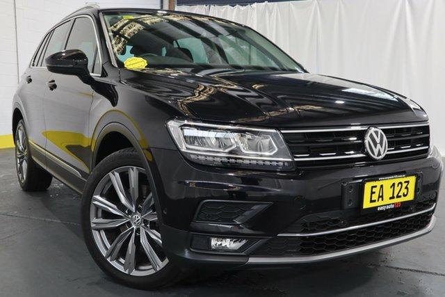 Used Volkswagen Tiguan 5N MY18 162TSI DSG 4MOTION Sportline Castle Hill, 2018 Volkswagen Tiguan 5N MY18 162TSI DSG 4MOTION Sportline Black 7 Speed