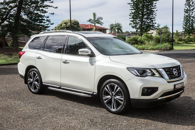 Used Nissan Pathfinder R52 Series II MY17 Ti X-tronic 2WD Port Macquarie, 2018 Nissan Pathfinder R52 Series II MY17 Ti X-tronic 2WD White 1 Speed Constant Variable Wagon
