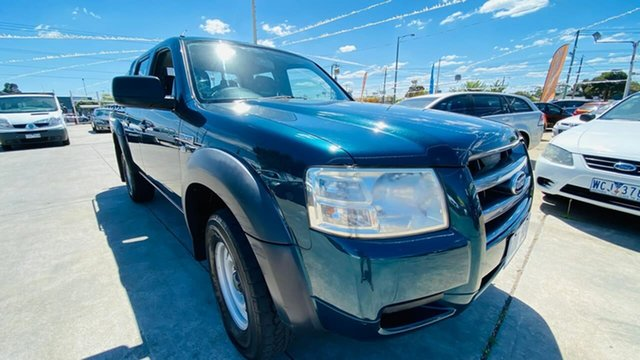 Used Ford Ranger PJ XL Crew Cab Maidstone, 2007 Ford Ranger PJ XL Crew Cab Green 5 Speed Automatic Utility