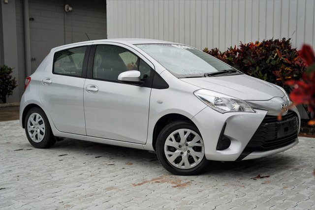 Used Toyota Yaris NCP130R Ascent Cairns, 2019 Toyota Yaris NCP130R Ascent Silver 4 Speed Automatic Hatchback