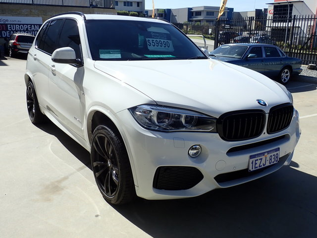 Used BMW X5 F15 MY16 xDrive30d Wangara, 2016 BMW X5 F15 MY16 xDrive30d Polar White 8 Speed Automatic Wagon