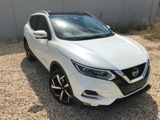 2020 Nissan Qashqai MY20 TI White Continuous Variable Wagon.