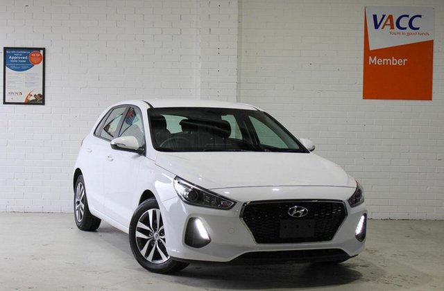 Used Hyundai i30 PD MY18 Active Moorabbin, 2018 Hyundai i30 PD MY18 Active White 6 Speed Sports Automatic Hatchback