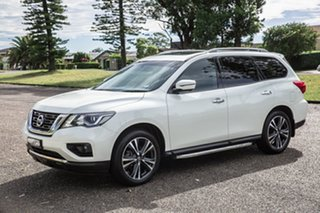 2018 Nissan Pathfinder R52 Series II MY17 Ti X-tronic 2WD White 1 Speed Constant Variable Wagon.
