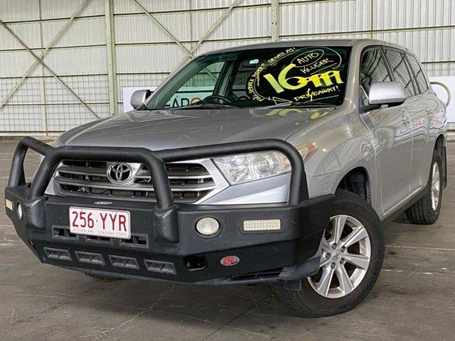 Used Toyota Kluger GSU45R KX-R AWD Rocklea, 2010 Toyota Kluger GSU45R KX-R AWD Silver 5 Speed Sports Automatic Wagon