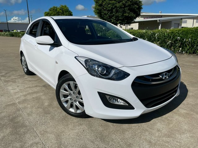 Used Hyundai i30 GD2 Active Townsville, 2014 Hyundai i30 GD2 Active White 6 Speed Sports Automatic Hatchback