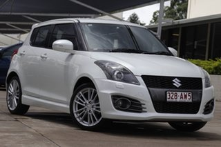 2015 Suzuki Swift FZ MY15 Sport White 6 Speed Manual Hatchback.