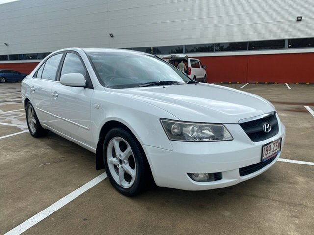 Used Hyundai Sonata NF Elite Morayfield, 2005 Hyundai Sonata NF Elite White 4 Speed Sequential Auto Sedan