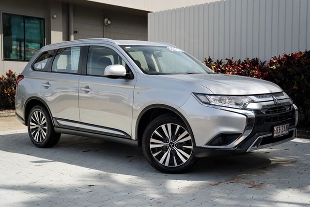 Used Mitsubishi Outlander ZL MY19 ES 2WD Cairns, 2019 Mitsubishi Outlander ZL MY19 ES 2WD Sterling Silver 6 Speed Constant Variable Wagon
