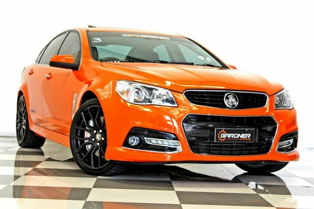 Used Holden Commodore VF SS-V Redline Burleigh Heads, 2013 Holden Commodore VF SS-V Redline Orange 6 Speed Manual Sedan
