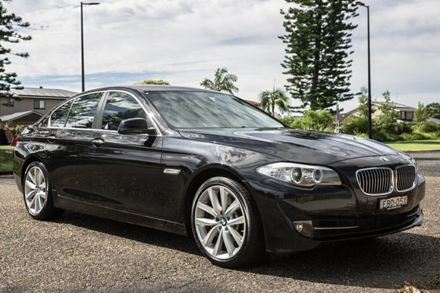 Used BMW 5 Series F10 MY1112 535i Steptronic Port Macquarie, 2013 BMW 5 Series F10 MY1112 535i Steptronic Black 8 Speed Sports Automatic Sedan