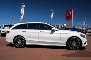 2015 Mercedes-Benz C-Class S205 C250 BlueTEC Estate 7G-Tronic + White 7 Speed Sports Automatic Wagon.
