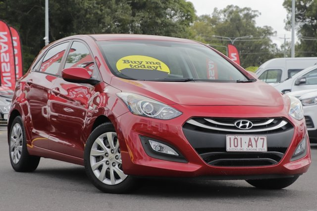 Used Hyundai i30 GD Active Aspley, 2013 Hyundai i30 GD Active Red 6 Speed Sports Automatic Hatchback
