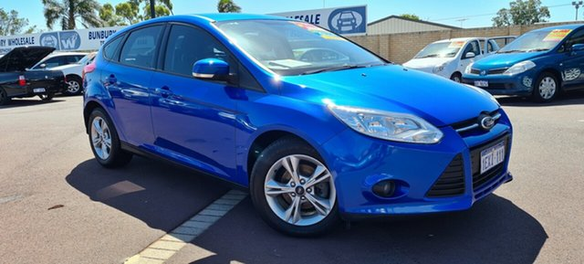 Used Ford Focus LW MkII Trend PwrShift East Bunbury, 2013 Ford Focus LW MkII Trend PwrShift Blue 6 Speed Sports Automatic Dual Clutch Hatchback