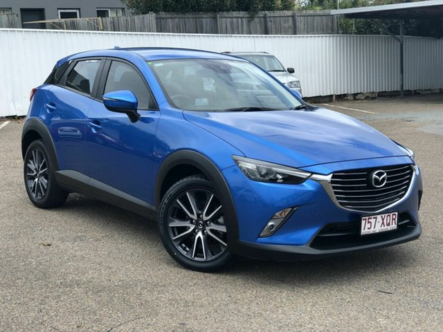 Used Mazda CX-3 DK4W7A sTouring SKYACTIV-Drive i-ACTIV AWD Chermside, 2017 Mazda CX-3 DK4W7A sTouring SKYACTIV-Drive i-ACTIV AWD Blue 6 Speed Sports Automatic Wagon