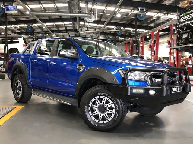 Pre-Owned Ford Ranger PX MkII XLT Double Cab Oakleigh, 2017 Ford Ranger PX MkII XLT Double Cab Blue 6 Speed Sports Automatic Utility