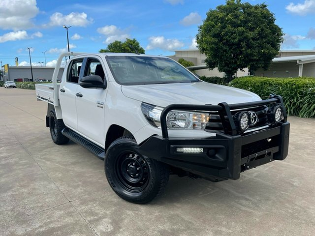Used Toyota Hilux GUN126R SR Double Cab Townsville, 2018 Toyota Hilux GUN126R SR Double Cab White 6 Speed Sports Automatic Cab Chassis