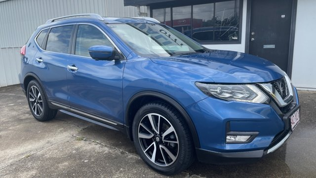 Used Nissan X-Trail T32 Ti X-tronic 4WD Moorooka, 2017 Nissan X-Trail T32 Ti X-tronic 4WD Blue 7 Speed Constant Variable Wagon