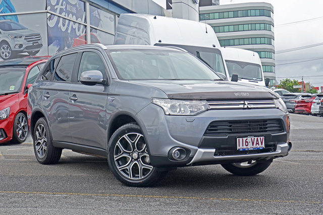 Used Mitsubishi Outlander ZJ MY14.5 PHEV AWD Springwood, 2014 Mitsubishi Outlander ZJ MY14.5 PHEV AWD Grey 1 Speed Automatic Wagon Hybrid