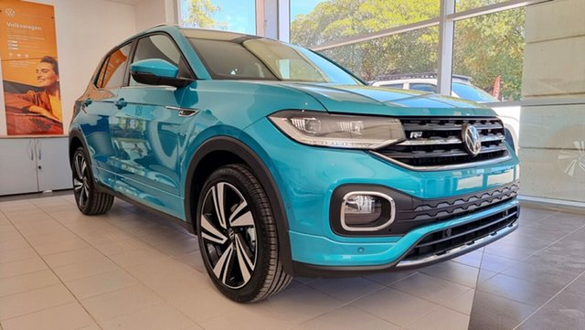 New Volkswagen T-Cross C1 MY21 85TSI DSG FWD Style Tanunda, 2020 Volkswagen T-Cross C1 MY21 85TSI DSG FWD Style Makena Turquoise Metallic 7 Speed