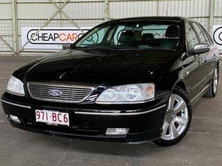 2006 Ford Fairlane BF Ghia Black 6 Speed Sports Automatic Sedan.