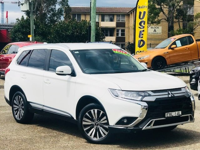 Used Mitsubishi Outlander ZL MY19 LS AWD Liverpool, 2019 Mitsubishi Outlander ZL MY19 LS AWD White 6 Speed Constant Variable Wagon