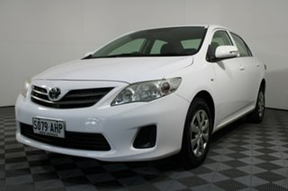 2010 Toyota Corolla ZRE152R Ascent White 4 Speed Automatic Sedan.