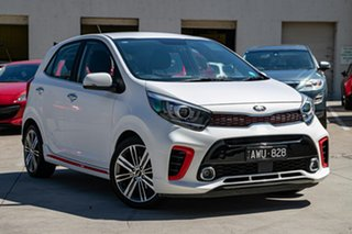 2018 Kia Picanto JA MY19 GT-Line White 4 Speed Automatic Hatchback.