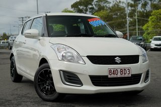 2016 Suzuki Swift FZ MY15 GL White 5 Speed Manual Hatchback.
