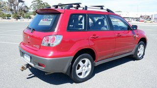 2007 Mitsubishi Outlander ZG MY07 XLS Red 6 Speed Constant Variable Wagon