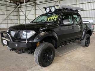 2007 Nissan Navara D40 ST-X Black 5 Speed Automatic Utility.