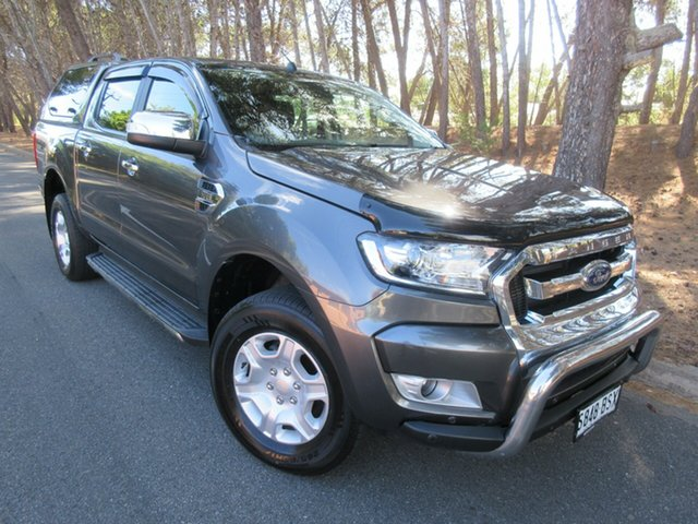 Used Ford Ranger PX MkII XLT Double Cab Reynella, 2017 Ford Ranger PX MkII XLT Double Cab Grey 6 Speed Sports Automatic Utility