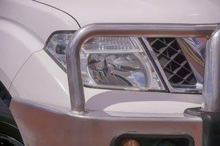 2013 Nissan Navara D40 S6 MY12 ST White 6 Speed Manual Utility.