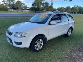 2010 Ford Territory SY MkII TS RWD White 4 Speed Sports Automatic Wagon.