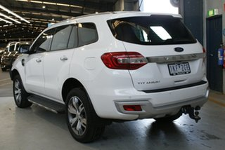 2017 Ford Everest UA MY17 Titanium Arctic White 6 Speed Automatic Wagon.