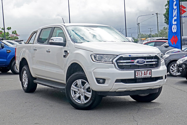 Used Ford Ranger PX MkIII 2020.75MY XLT Ebbw Vale, 2020 Ford Ranger PX MkIII 2020.75MY XLT Alabaster White 10 Speed Sports Automatic Double Cab Pick Up