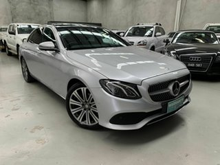 2016 Mercedes-Benz E-Class W213 E200 9G-Tronic PLUS Silver 9 Speed Sports Automatic Sedan.