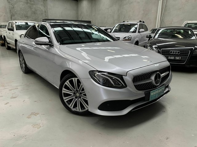Used Mercedes-Benz E-Class W213 E200 9G-Tronic PLUS Coburg North, 2016 Mercedes-Benz E-Class W213 E200 9G-Tronic PLUS Silver 9 Speed Sports Automatic Sedan