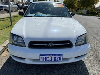 1999 Subaru Liberty GX (AWD) White 4 Speed Automatic Sedan.