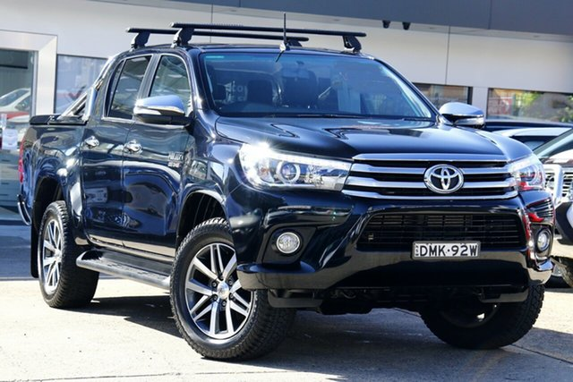 Used Toyota Hilux GUN126R SR5 Double Cab Homebush, 2017 Toyota Hilux GUN126R SR5 Double Cab Black 6 Speed Sports Automatic Utility
