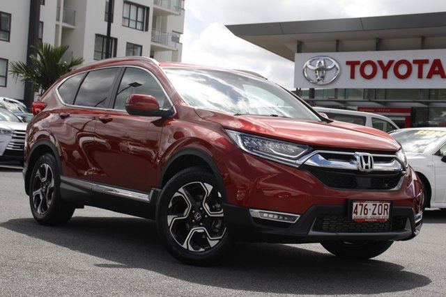 Pre-Owned Honda CR-V RW MY20 VTi-LX 4WD Upper Mount Gravatt, 2019 Honda CR-V RW MY20 VTi-LX 4WD Passion Red 1 Speed Constant Variable Wagon