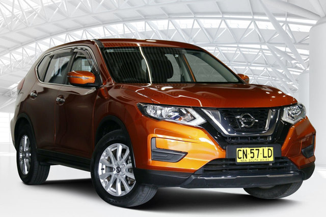 Used Nissan X-Trail T32 ST (FWD) Moorebank, 2017 Nissan X-Trail T32 ST (FWD) Amsterdam Orange Continuous Variable Wagon