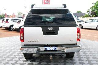 2010 Nissan Navara D40 ST Silver 6 Speed Manual Utility.