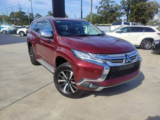Used Mitsubishi Pajero Sport QE MY18 Exceed Liverpool, 2018 Mitsubishi Pajero Sport QE MY18 Exceed Burgundy 8 Speed Sports Automatic Wagon