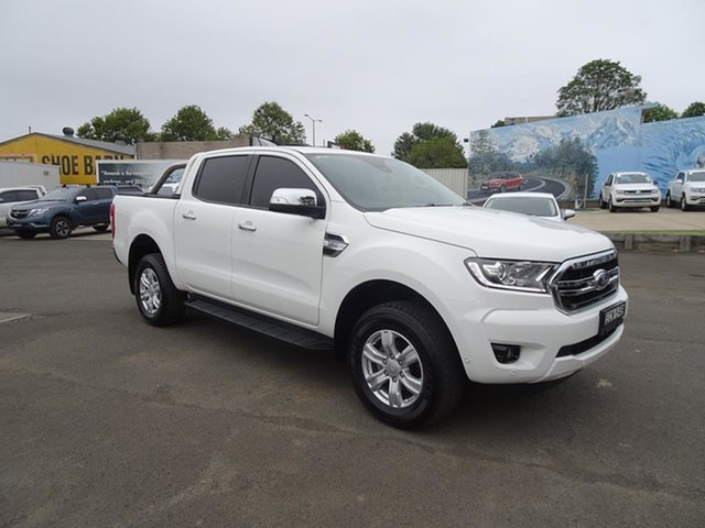 Used Ford Ranger PX MkIII 2019.75MY XLT Nowra, 2019 Ford Ranger PX MkIII 2019.75MY XLT Antarctic White 6 Speed Automatic Double Cab Pick Up