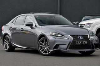 2015 Lexus IS AVE30R IS300h F Sport Grey 1 Speed Constant Variable Sedan Hybrid.