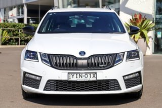2018 Skoda Octavia NE MY18.5 RS DSG 169TSI White 6 Speed Sports Automatic Dual Clutch Wagon