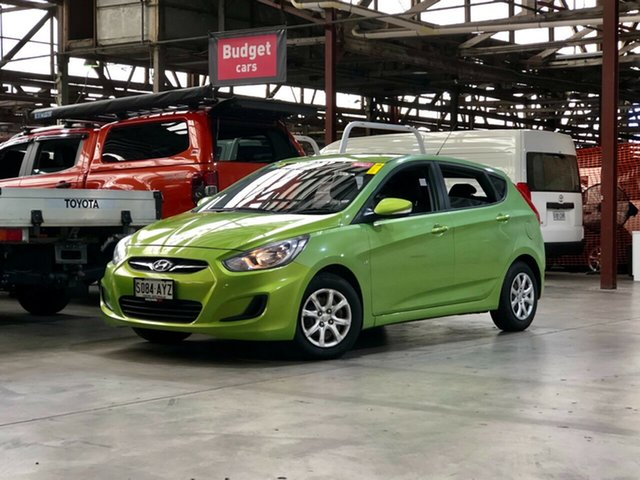 Used Hyundai Accent RB Active Mile End South, 2012 Hyundai Accent RB Active Green 4 Speed Sports Automatic Hatchback
