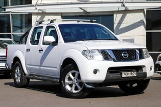 2014 Nissan Navara D40 S6 MY12 ST White 5 Speed Sports Automatic Utility.